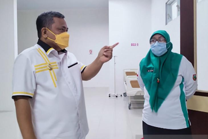 Wakil Bupati Gorontalo tinjau kesiapan ruang isolasi rumah sakit Boliyohuto