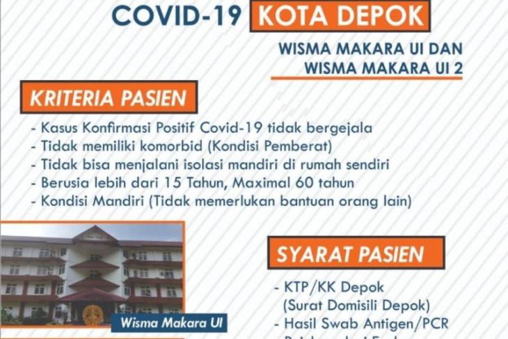 Pemkot Depok tambah 400 tempat tidur pasien COVID-19 OTG di Makara UI
