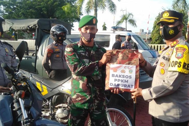 Polres-Kodim 0213/Nias bantu sembako  masyarakat terdampak PPKM