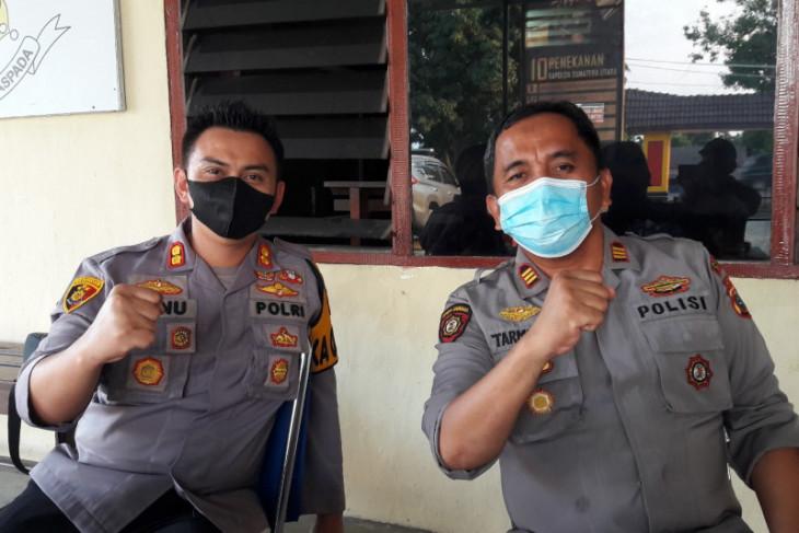 Kapolres Langkat cek 12 warga positip COVID-19 di Kecamatan Sawit Seberang