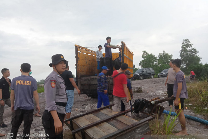 Tambang timah liar di Bangka Tengah berpotensi timbulkan bencana alam