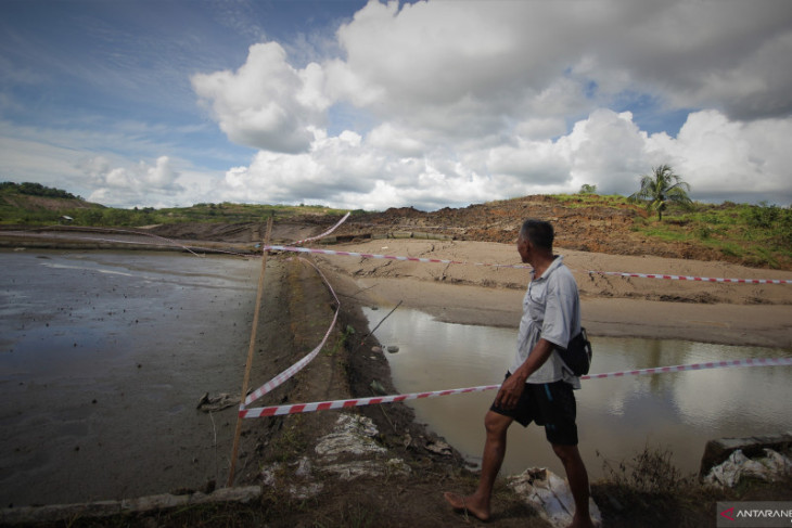 Puluhan hektare lahan pertanian di Tapin rusak