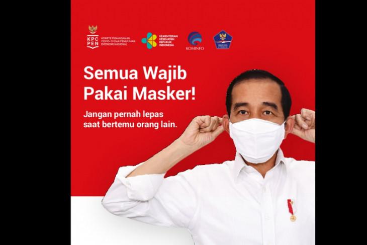 Ayo pakai masker lingkungan diri dan keluarga