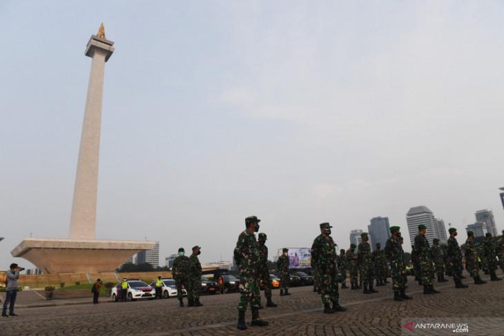 3.385 personel gabungan kawal demo menolak PPKM di Jakarta