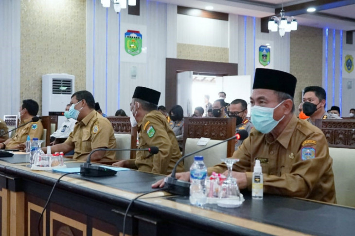 Plt Bupati Merangin laporkan kondisi karhutla Merangin ke Gubernur