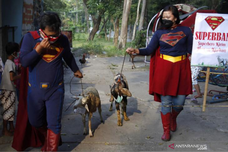 Super Hero antarkan hewan kurban