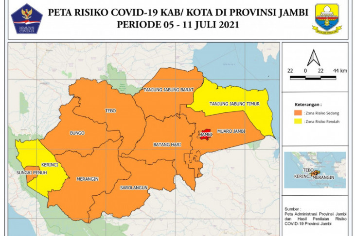 Tracking masif, 2.187 warga Jambi terdeteksi positif COVID-19