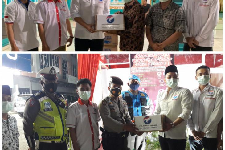 DPD Partai Perindo Langkat antarkan bantuan air mineral buat masjid