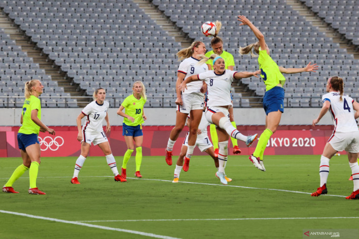 Olimpiade Tokyo: Swedia taklukkan AS 3-0, Brazil menang mudah lima gol atas China