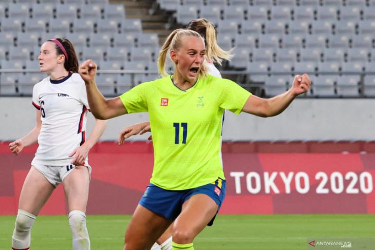 Swedia taklukkan AS 3-0,  Brazil menang mudah lima gol atas China