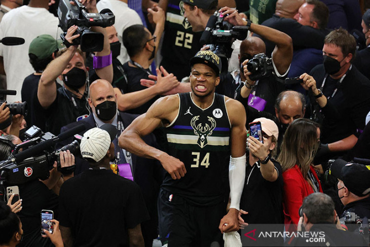 Giannis Antetokounmpo dinobatkan sebagai MVP Final NBA