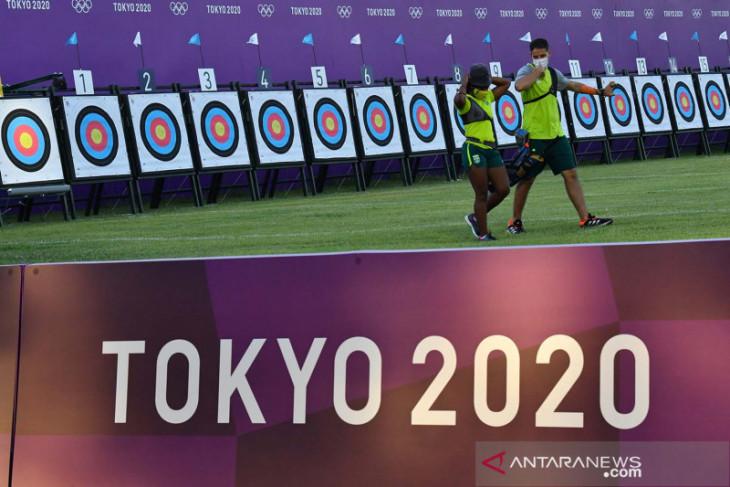 Olimpiade Tokyo: Diananda dan Riau Ega awali kiprah tim panahan Indonesia
