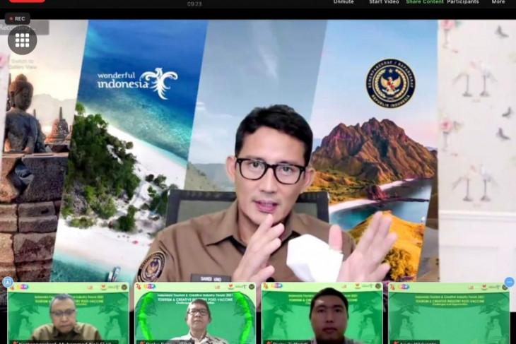 Menteri Sandiaga apresiasi pelaku usaha kreatif buat video