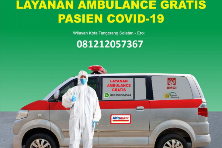 Ambulance Gratis dari Alfamart untuk Pasien Covid-19 di Banten