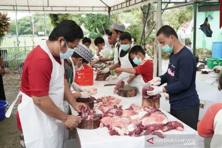 Pertamina MOR bagikan sebanyak 1.205 paket daging kurban