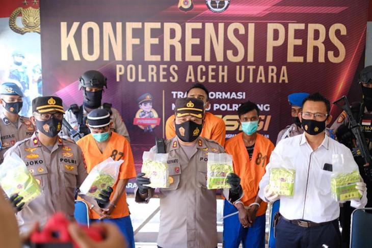 Polisi tembak dua kurir tujuh kilogram sabu-sabu