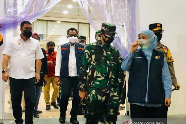 GOR GBT Surabaya siap dibuka, Khofifah berharap tempat tidur pasien tak terpakai