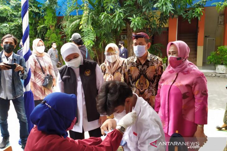 Gubernur Khofifah: Capaian vaksinasi Jatim tertinggi di Indonesia