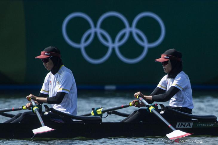 Olimpiade Tokyo, Atlet dayung Indonesia Mutiara/Melani petik pengalaman berharga