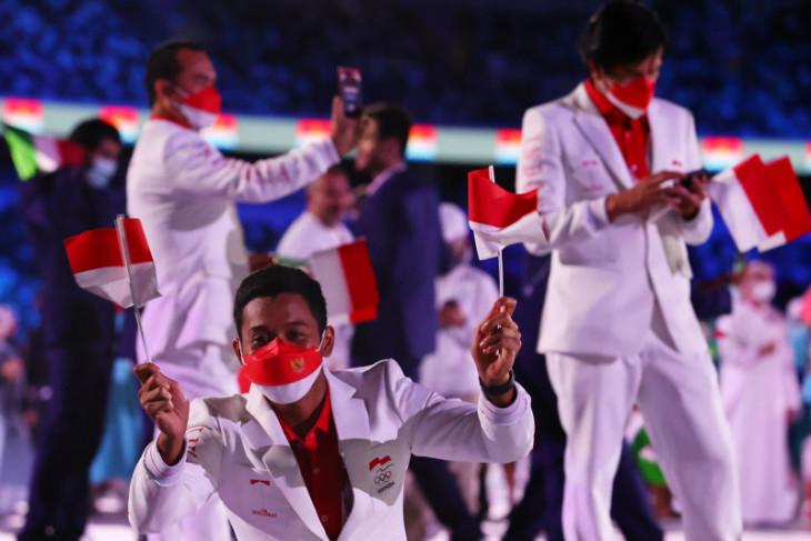 Kontingen Indonesia tampil gagah di pembukaan Olimpiade Tokyo