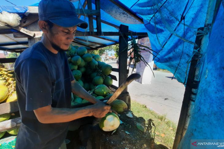 Pedagang kelapa muda kebanjiran pesanan terkait vaksin