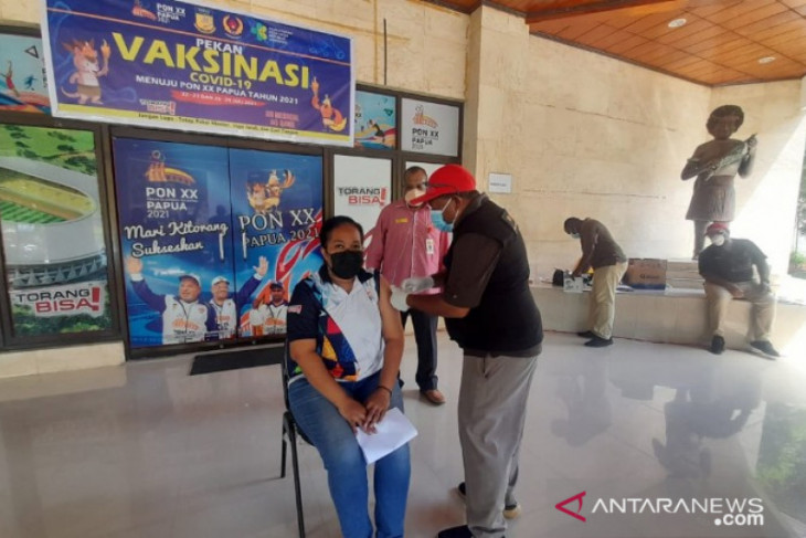 KONI completes first phase of vaccination of Papua PON athletes