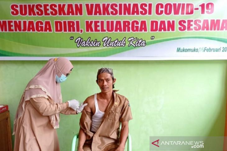 15.321 warga Mukomuko terima vaksinasi COVID-19