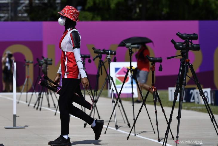 Olimpiade Tokyo, Tim panahan Indonesia gagal ke semifinal beregu campuran