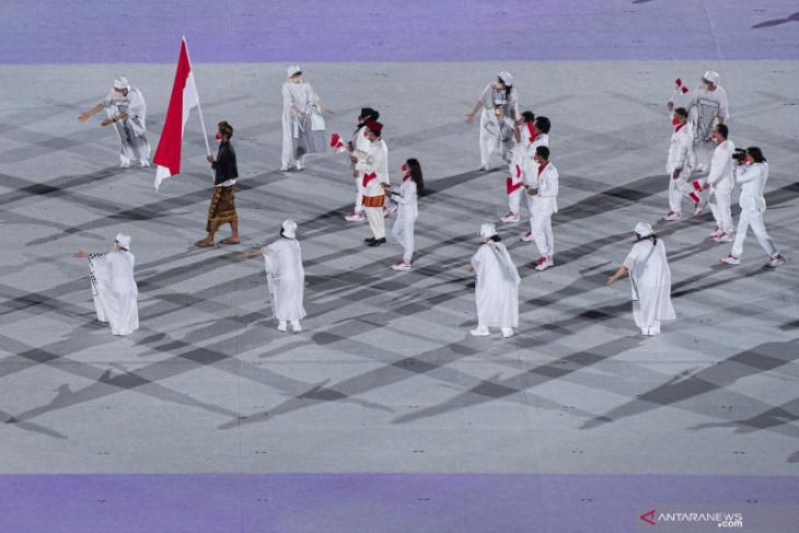 Olimpiade Tokyo: Kontingen Indonesia tampil gagah di upacara pembukaan