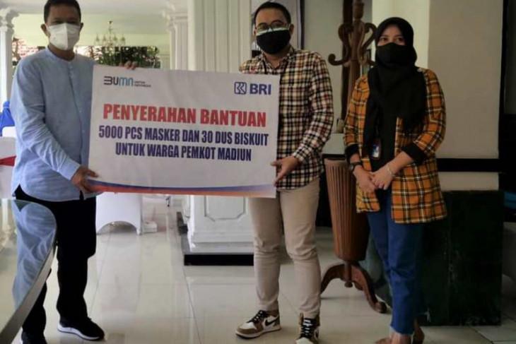 Pemkot Madiun terima bantuan 5.000 masker dan biskuit dari BRI