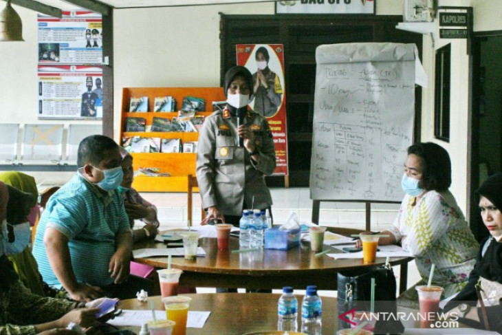 Polisi gelar rapat pembentukan tracing penyebaran COVID-19 di Kota Padangsidimpuan