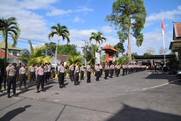 Antisipasi demo PPKM, Polres Badung siagakan satu kompi dalmas