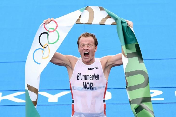 Kristian Blummenfelt sabet medali emas triathlon putra Olimpiade Tokyo 2020
