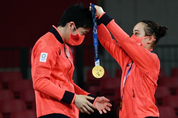Olimpiade Tokyo, Jepang rebut emas ganda campuran tenis meja dari dominasi China