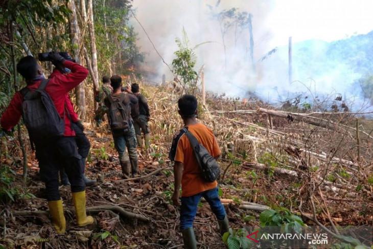 16 kali bom air hentikan kebakaran di Taman Nasional Riau