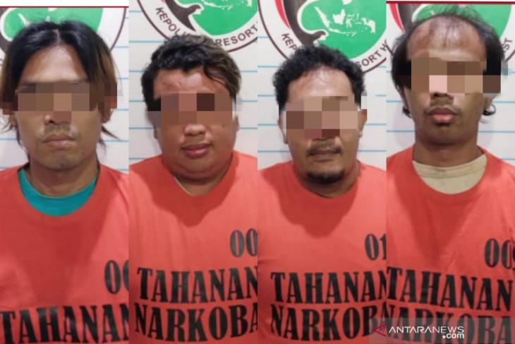 Dalam sepekan, empat pengedar sabu berhasil ditangkap Polres HST