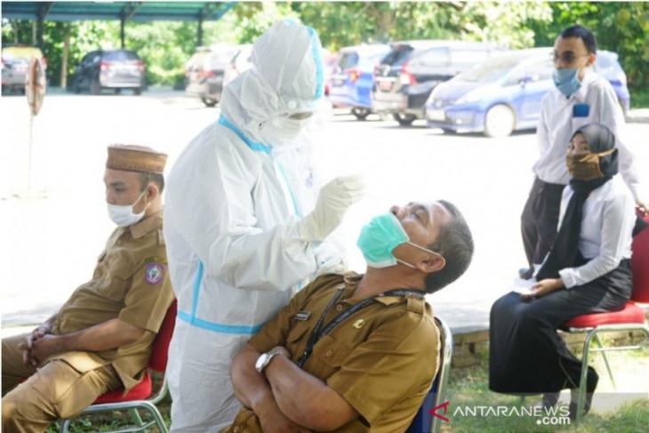 Hasil tes antigen di Diskominfo Gorontalo temukan tujuh orang positif