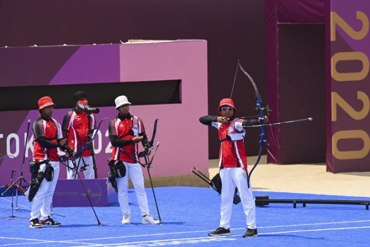 Tim panahan beregu putra Indonesia tersingkir di babak eliminasi