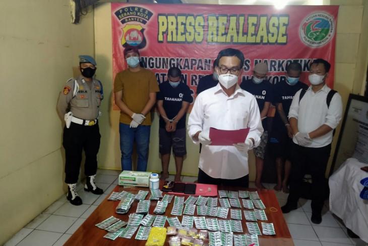 Polres Serang Kota ringkus lima pelaku penyalahgunaan narkoba