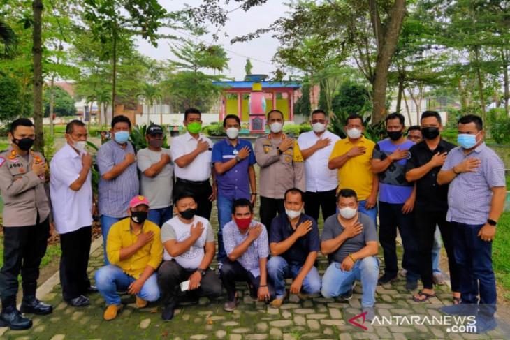 Kunjungi wartawan, Kapolres Asahan dukung program uji kompetensi