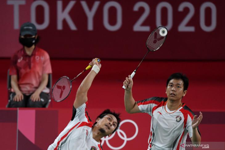 Hendra/Ahsan juarai Grup D melaju ke perempat final Olimpiade Tokyo