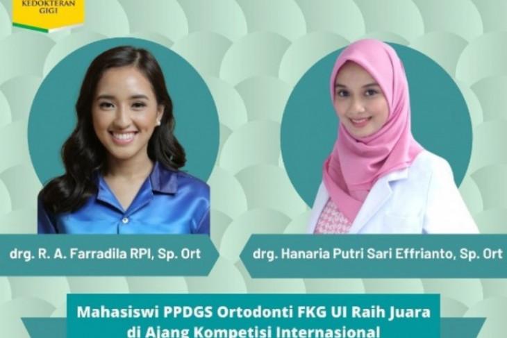 Dua mahasiswa FKG UI berhasil raih penghargaan kompetisi internasional