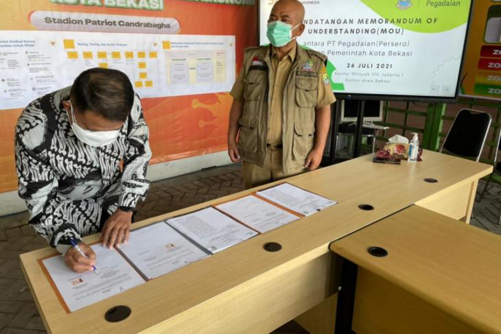 Pegadaian Kanwil VIII Jakarta 1 kerja sama dengan Pemkot Bekasi