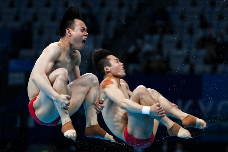 Olimpiade Tokyo: China cetak hattrick medali emas loncat indah putra