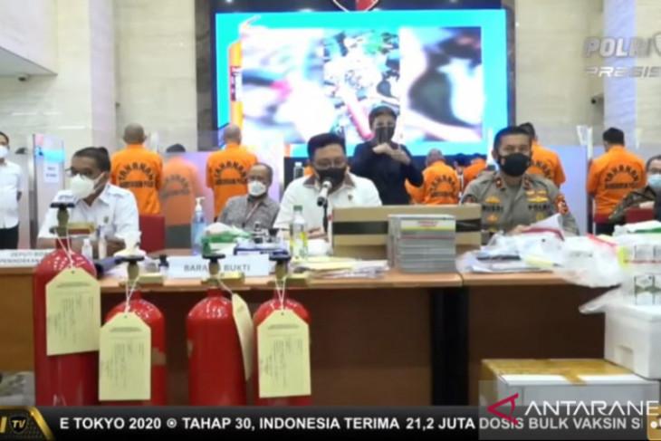 Polri tangkap enam pelaku penjual tabung APAR ubah jadi tabung oksigen