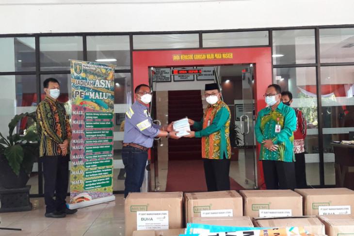 Pemkab Tabalong terima bantuan masker dari PT Buma