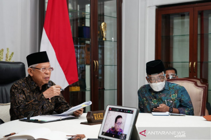 Wapres Ma'ruf Amin ingatkan Sri Sultan jangan sampai Yogyakarta tak serap anggaran