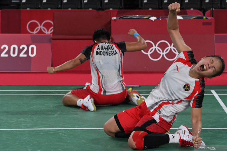Lolos ke final Olimpiade, Greysia/Apriyani ukir sejarah baru bulu tangkis Indonesia