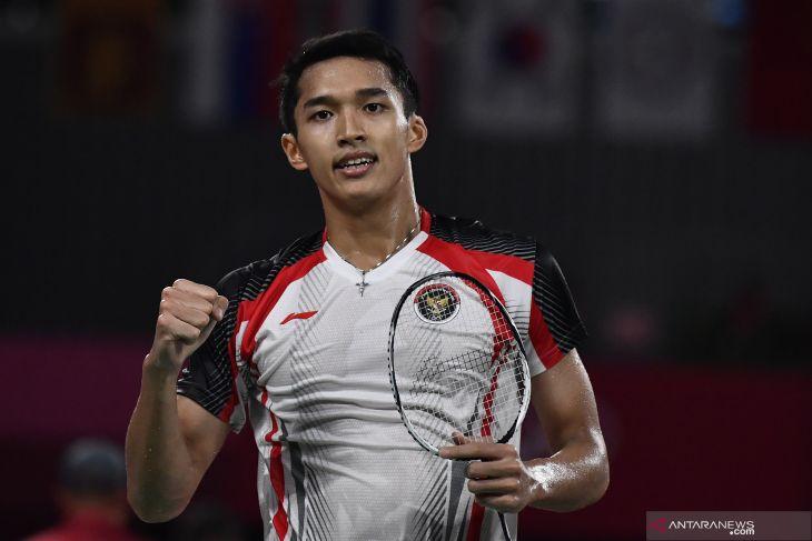 Jonatan Christie bawa Indonesia memimpin sementara 2-1 atas Taiwan