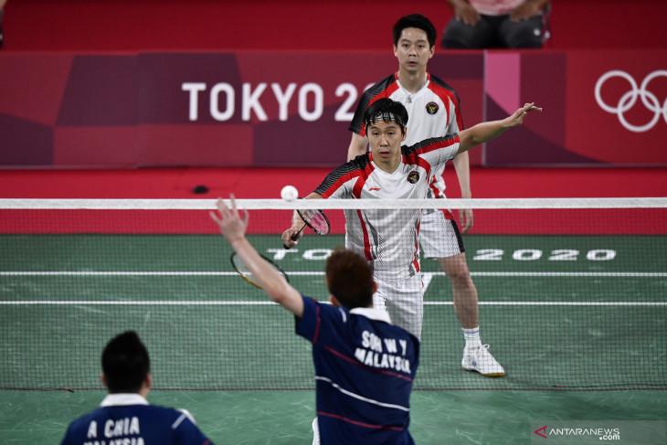Kevin/Marcus gagal berlanjut di Olimpiade Tokyo